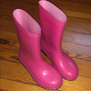 Girls Pink Rain boots
